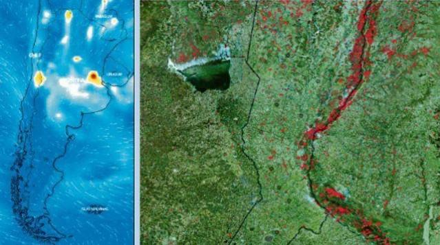 Imágenes de la Nasa muestran los incendios en las islas y pronostican que habrá más